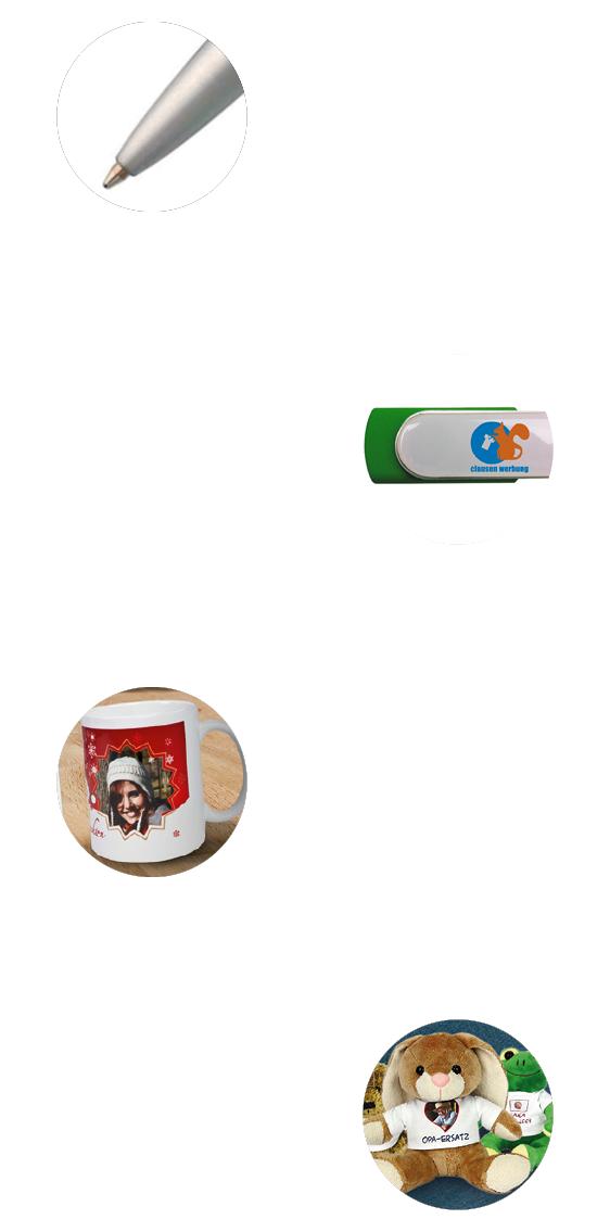 Clausen Werbung - Webseite - Kugelschreiber - Feuerzeuge - USB Sticks - Tassen - T-Shirts - Spaßartikel
