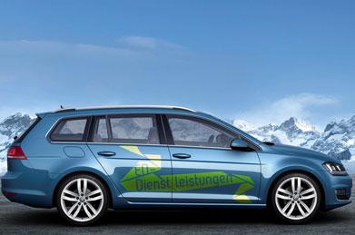 ED Dienstleistungen - Fahrzeugbeschriftung - Referenzen | Clausen Werbung