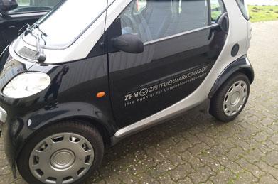 Zeit für Marketing - Fahrzeugbeschriftung - Referenzen | Clausen Werbung